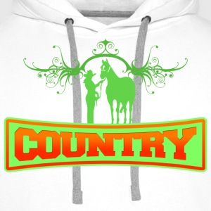 country Sweat-shirts - Sweat-shirt à capuche Premium pour hommes