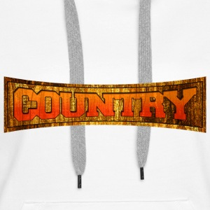 country Sweat-shirts - Sweat-shirt à capuche Premium pour femmes
