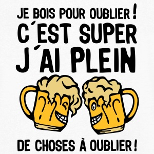 bois oublier biere alcool verre1 Tee shirts - T-shirt Homme col V