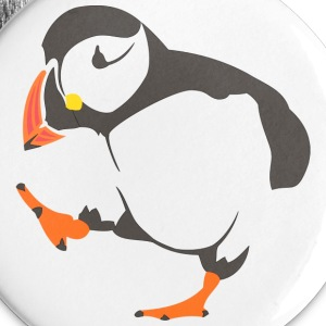 Walking  puffin Buttons - Buttons large 56 mm