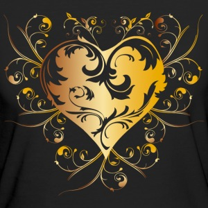 heart yellow T-Shirts - Women's Organic T-shirt