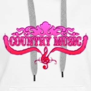 country music Sweat-shirts - Sweat-shirt à capuche Premium pour femmes