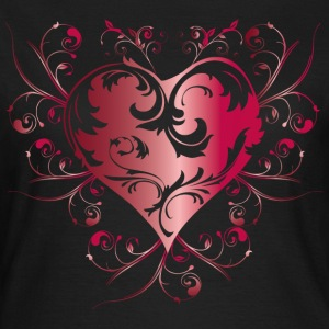 heart red T-shirts - Dame-T-shirt