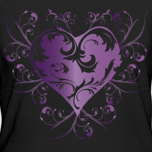 heart purple T-shirt - T-shirt ecologica da donna