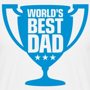 Worlds Best Dad 9 (1c)++ T-shirts - T-shirt herr