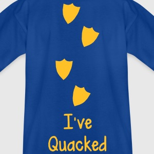 funny duck foot waddle prints i've quacked quack Shirts - Kids' T-Shirt