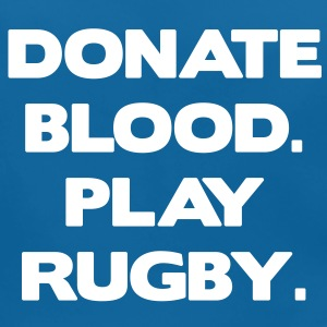 Donate Blood. Play Rugby. Accessoarer - Ekologisk babyhaklapp