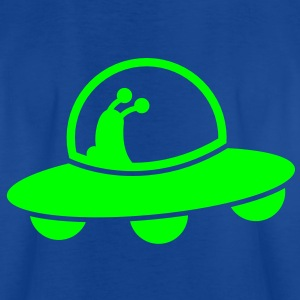 alien spacecraft flying UFO with cute Aliens Shirts - Kids' T-Shirt