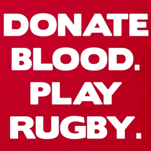 Donate Blood. Play Rugby. Kinder shirts - Kinderen Bio-T-shirt