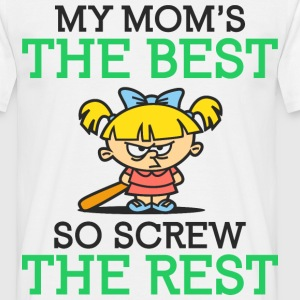 My Moms The Best 2 (dd)++ T-shirts - T-shirt herr