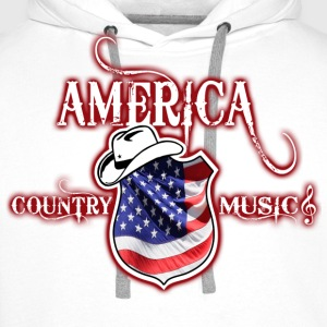 america country music Hoodies & Sweatshirts - Men's Premium Hoodie
