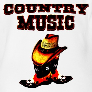 country music T-Shirts - Baby Bio-Kurzarm-Body