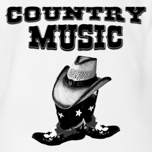 country music T-shirts - Ekologisk kortärmad babybody
