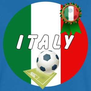 Italy Football Team pitch ball & Rosette - Men's V-Neck T-Shirt