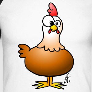 Chicken - Hen Long sleeve shirts - Men's Long Sleeve Baseball T-Shirt