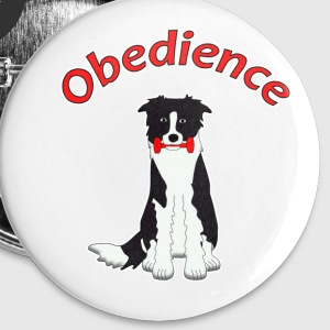 Obedience Border Collie 2 Badges - Badge moyen 32 mm