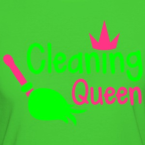 cleaning queen with a broom and a royal crown T-Shirts - Women's Organic T-shirt