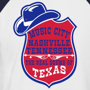 music city nashville tennessee  Tee shirts - T-shirt baseball manches courtes Homme