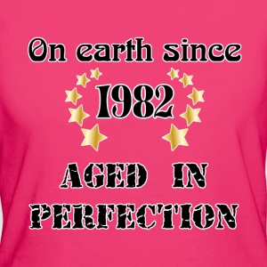 on earth since 1982 Camisetas - Camiseta ecológica mujer