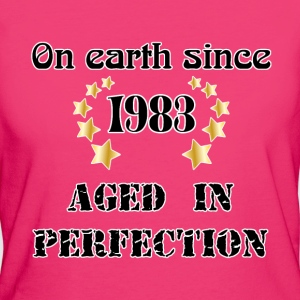 on earth since 1983 T-shirts - Organic damer