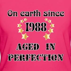 on earth since 1988 T-Shirts - Frauen Bio-T-Shirt