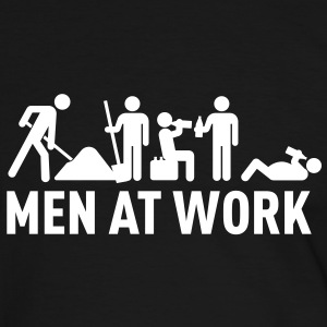 men at work - construction area - worker hard working T-shirts - Kontrast-T-shirt herr