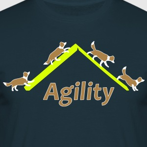 Agility 4x Border Collie T-shirts - Herre-T-shirt