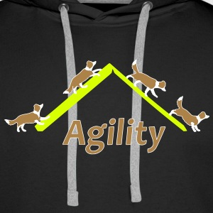 Agility 4x Border Collie Sweat-shirts - Sweat-shirt à capuche Premium pour hommes