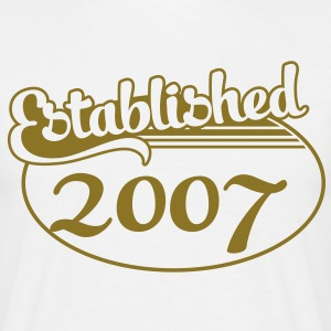 Birthday-Shirt - Geburtstag - Established 2007 (sv) T-shirts - T-shirt herr