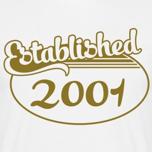 Birthday-Shirt - Geburtstag - Established 2001 (dk) T-shirts - Herre-T-shirt