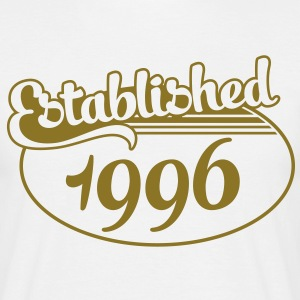 Birthday-Shirt - Geburtstag - Established 1996 (es) Camisetas - Camiseta hombre