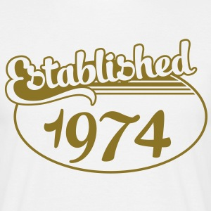 Birthday-Shirt - Geburtstag - Established 1974 (es) Camisetas - Camiseta hombre