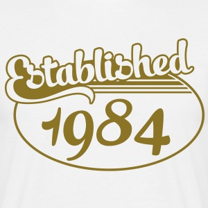 Birthday-Shirt - Geburtstag - Established 1984 (es) Camisetas - Camiseta hombre