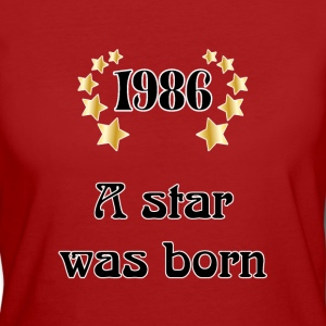 1986 - a star was born T-shirt - T-shirt ecologica da donna