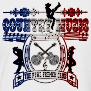 country music the real french club Tee shirts - T-shirt baseball manches courtes Homme