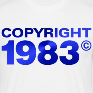 Copyright 1983 3 (dd)++ T-skjorter - T-skjorte for menn
