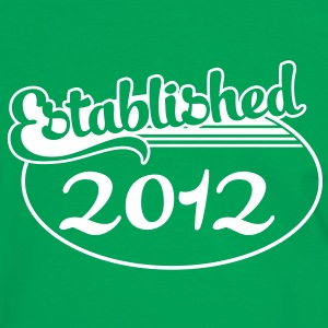 Birthday-Shirt - Geburtstag - Established 2012 (es) Camisetas - Camiseta contraste hombre