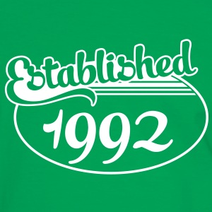 Birthday-Shirt - Geburtstag - Established 1992 (es) Camisetas - Camiseta contraste hombre