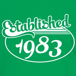 Birthday-Shirt - Geburtstag - Established 1983 (dk) T-shirts - Herre kontrast-T-shirt