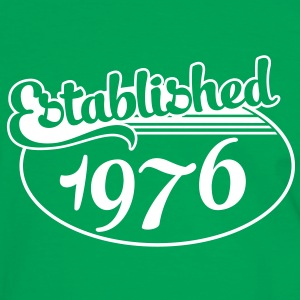 Birthday-Shirt - Geburtstag - Established 1976 (dk) T-shirts - Herre kontrast-T-shirt