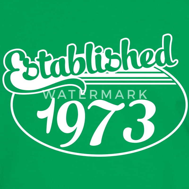 Birthday-Shirt - Geburtstag - Established 1973 (es) Camisetas - Camiseta contraste hombre