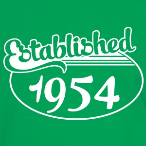 Birthday-Shirt - Geburtstag - Established 1954 (no) T-skjorter - Kontrast-T-skjorte for menn