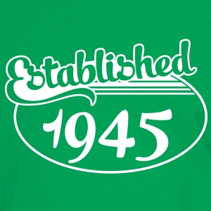Birthday-Shirt - Geburtstag - Established 1945 (no) T-skjorter - Kontrast-T-skjorte for menn