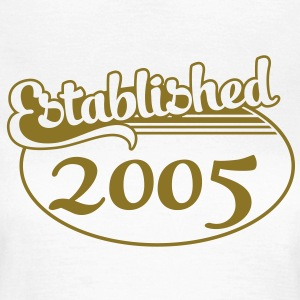 Birthday-Shirt - Geburtstag - Established 2005 (it) T-shirt - Maglietta da donna