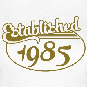 Birthday-Shirt - Geburtstag - Established 1985 (no) T-skjorter - T-skjorte for kvinner