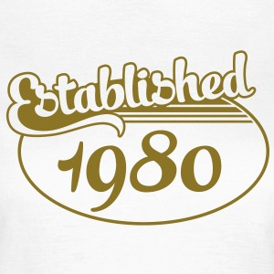 Birthday-Shirt - Geburtstag - Established 1980 (es) Camisetas - Camiseta mujer