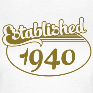 Birthday-Shirt - Geburtstag - Established 1940 (sv) T-shirts - T-shirt dam