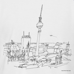 Panorama of Berlin - Men's Baseball T-Shirt