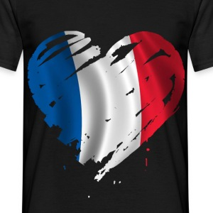 France heart T-Shirts - Men's T-Shirt