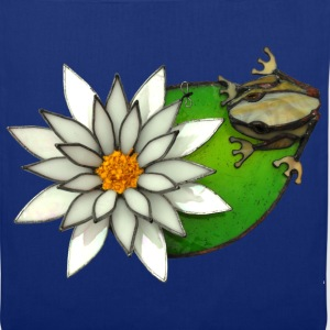 frog on a lilly pad - Tote Bag